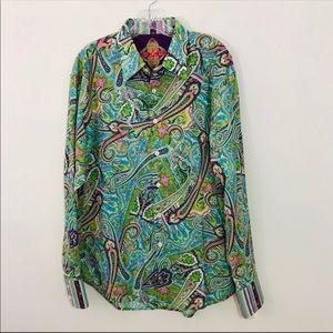 NWT ROBERT GRAHAM | Men's Paisley Print Shirt XL